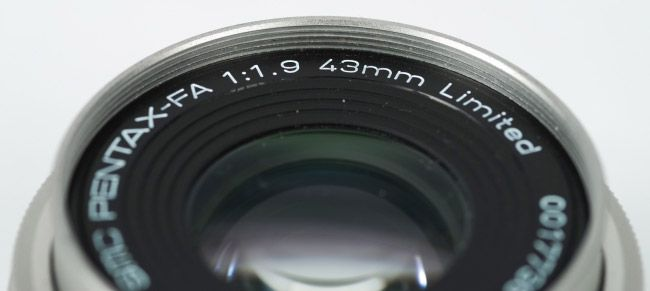 pentax fa 43mm 1.9 limited