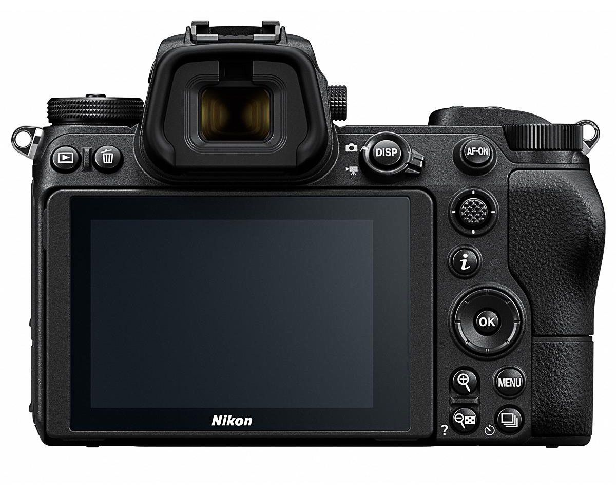 nikon z7 back panel and display